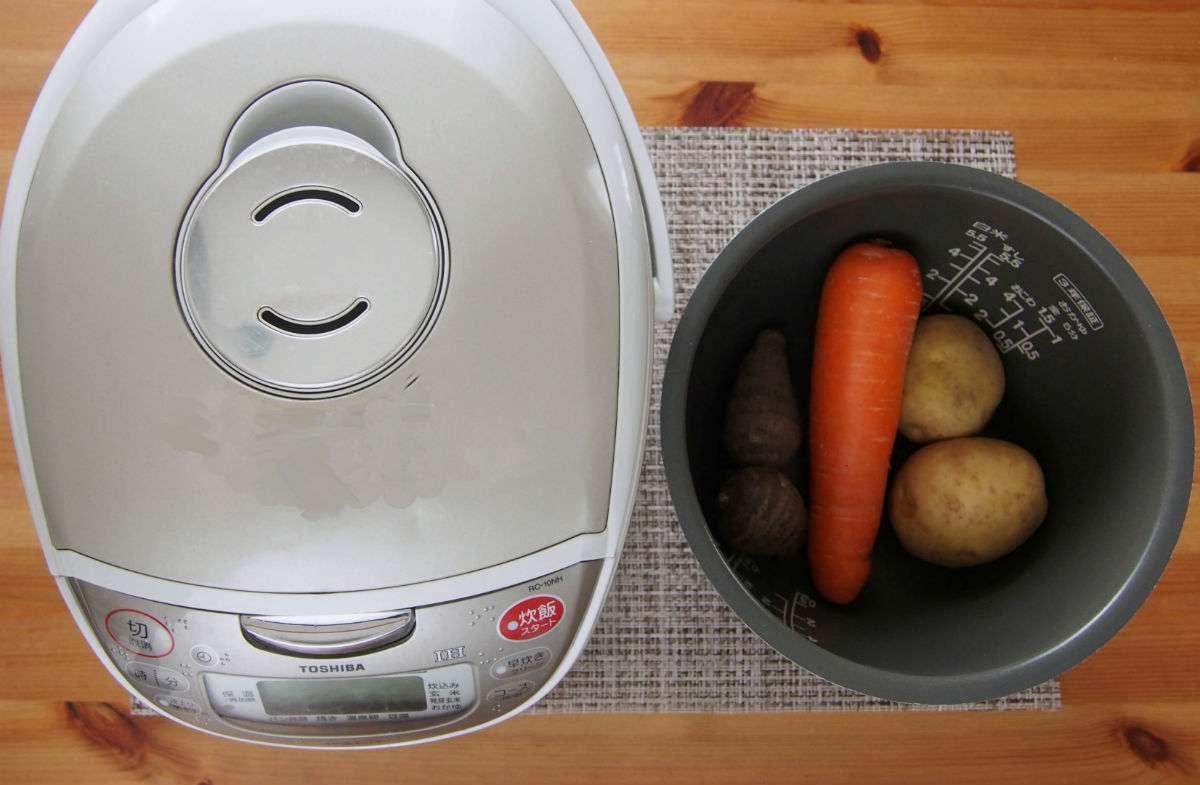 炊飯器 水の量 丸ごと 野菜