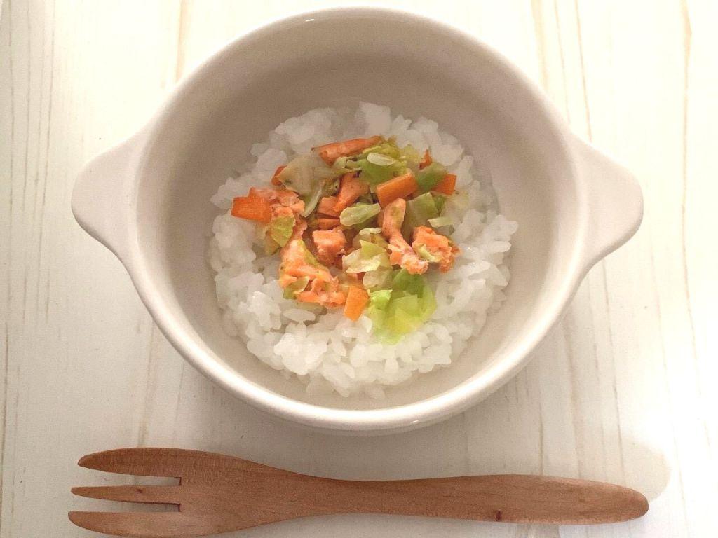 鮭と野菜の炒めもの