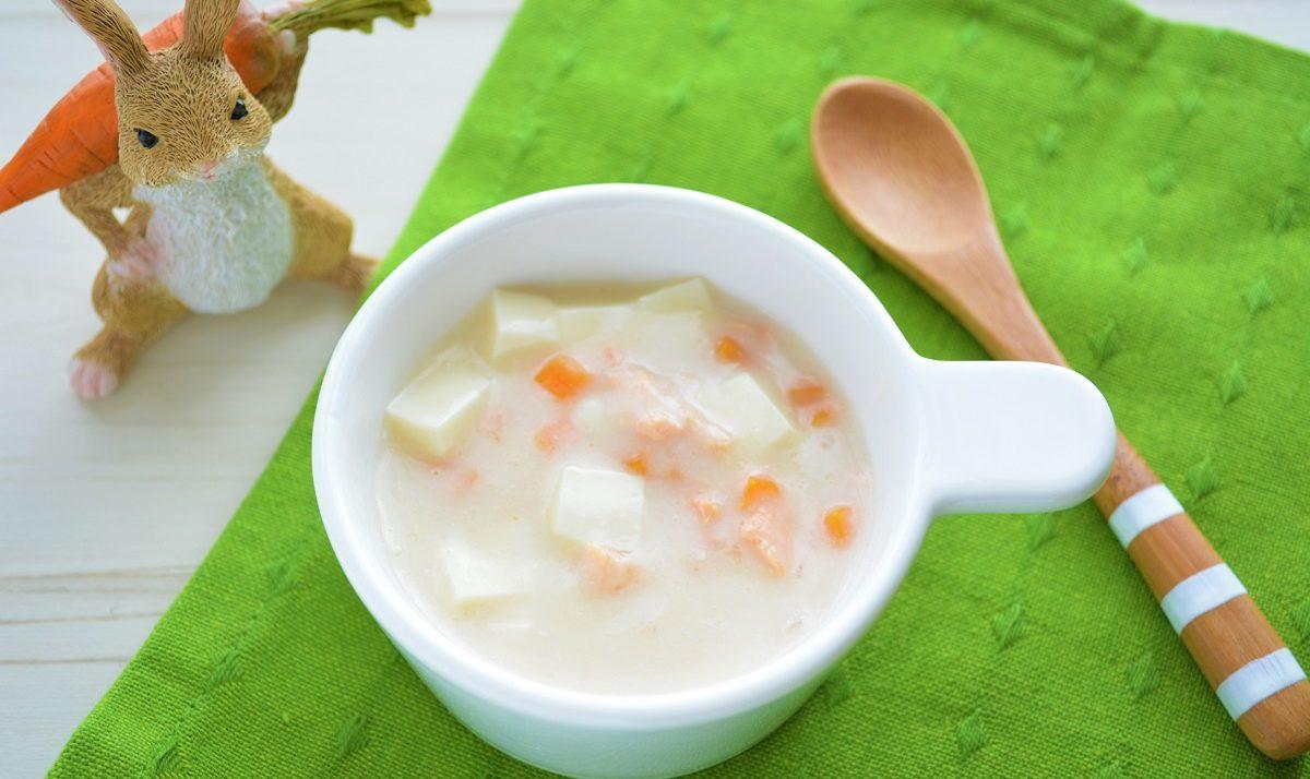 豆腐と鮭のミルク煮(粉ミルクレシピ)
